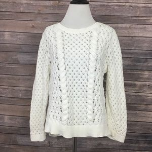 Knitted & Knotted Cable Knit Sweater